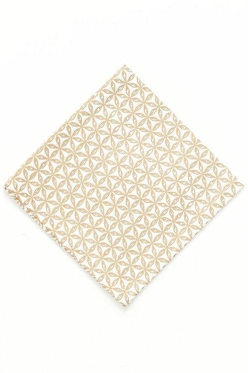 Gold Geo Print Napkin set/4