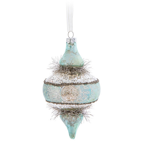 Silver and Turquoise Finial Ornament