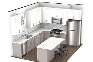 The Neil Apartments Kitchen Drawing