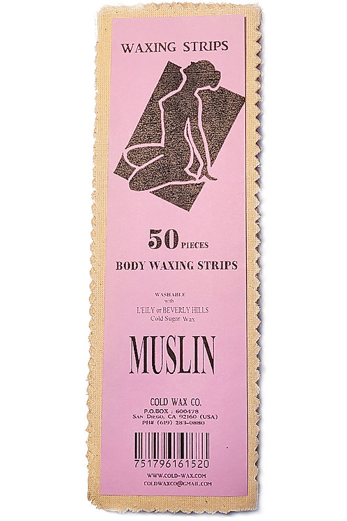 50 Waxing Strips - MUSLIN