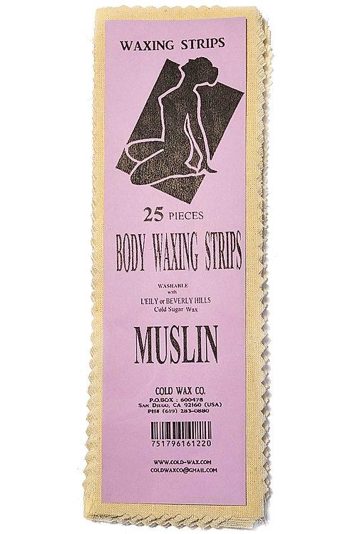 25 Waxing Strips - MUSLIN