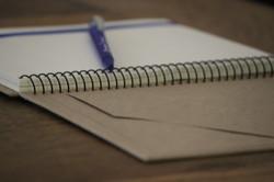 Sobre interior cuaderno
