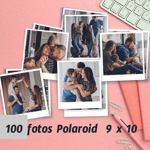 Pack 100 fotos polaroid 9 x 10