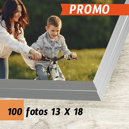 Pack 100 fotos 13 x 18