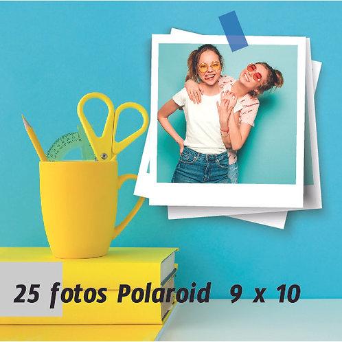 Pack 25 fotos polaroid 9 x 10