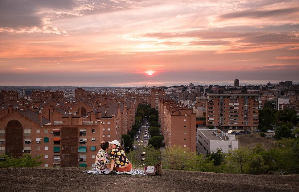 Madrid desde el cerro de monte Pío, Spain