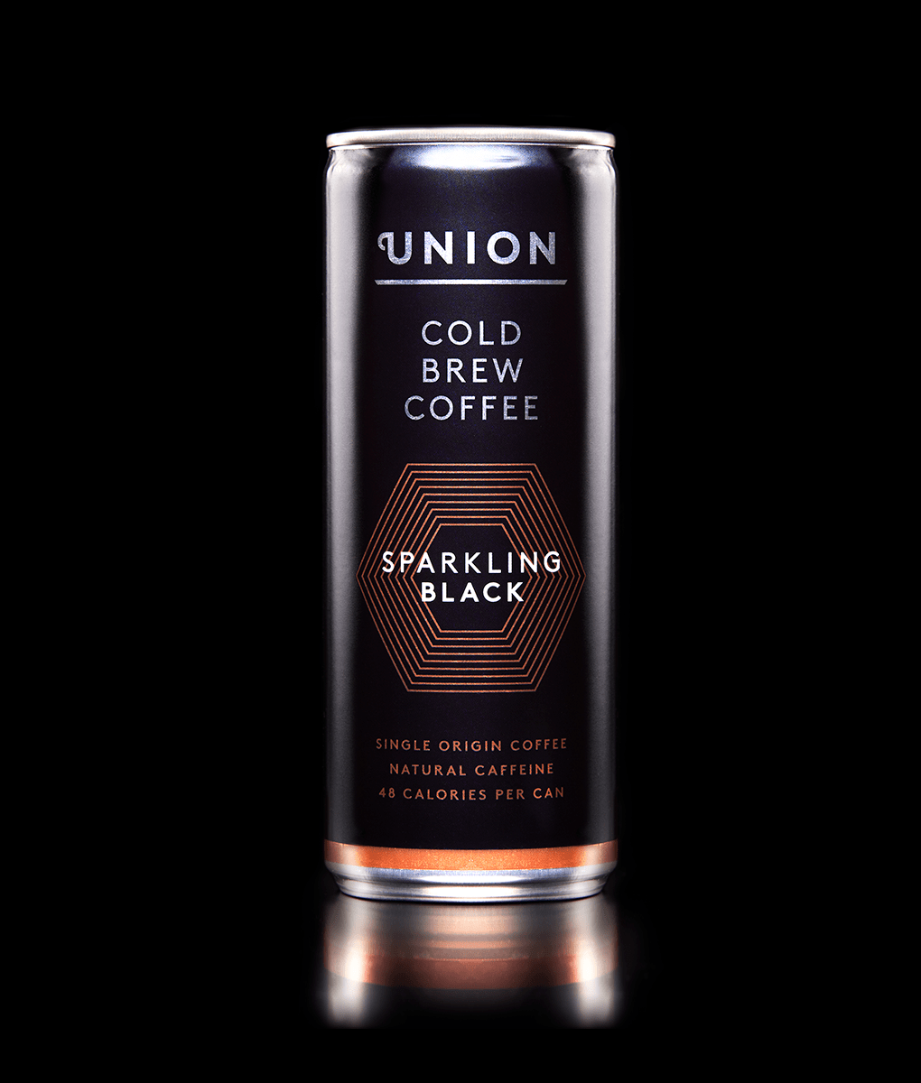 Union sparkling cold brew coffee