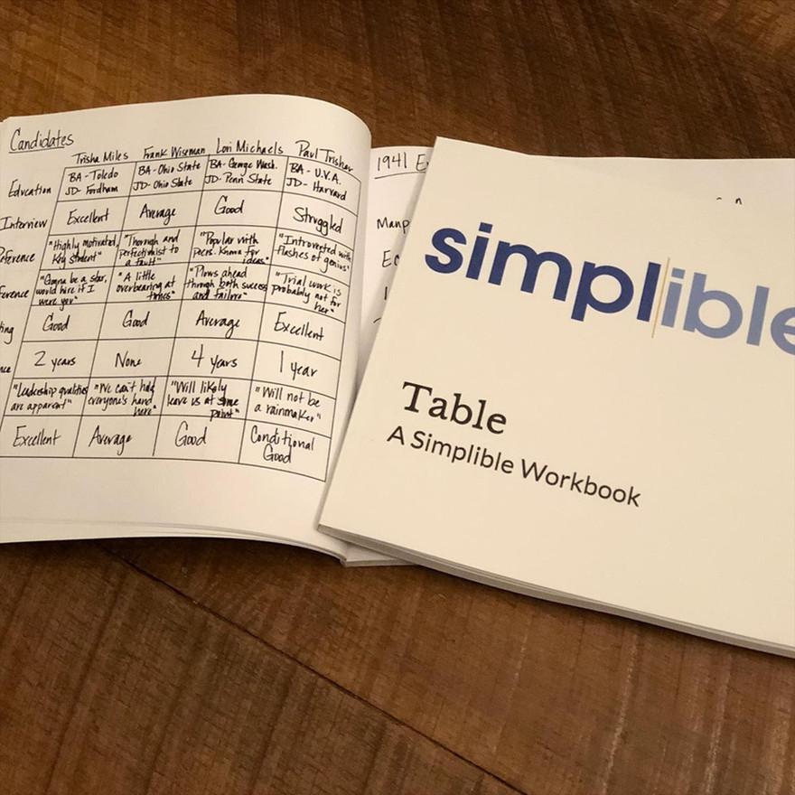 Table Workbook