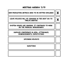 Using a Checklist for Meetings