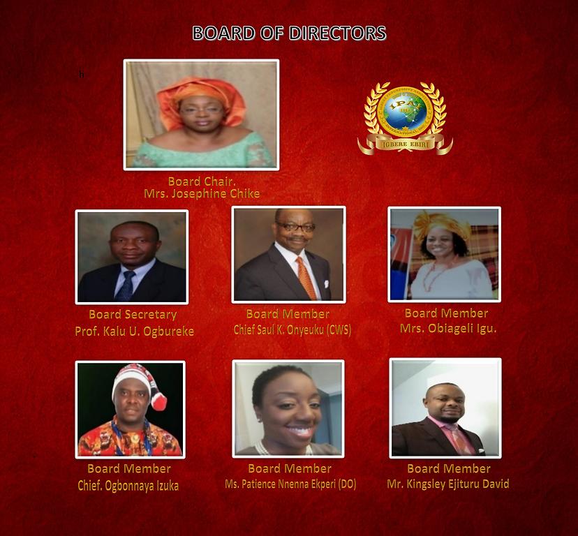 Board of Directors of IPAI, Inc.