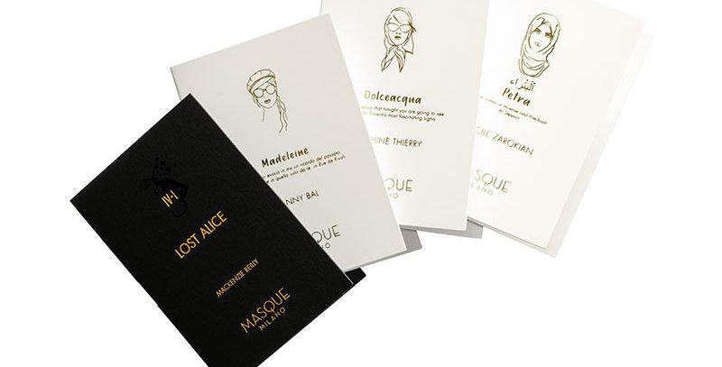 Discovery Set MASQUE Milano LOST ALICE  PETRA  DOLCEACQUA  MADELEINE perfume fragrance
