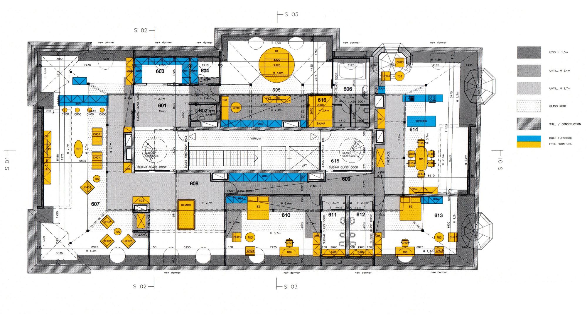 План пентхаус - этаж 6