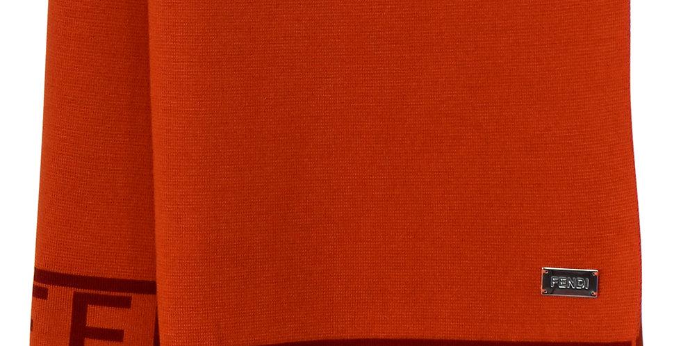 FENDI Casa Wool Plaid Orange