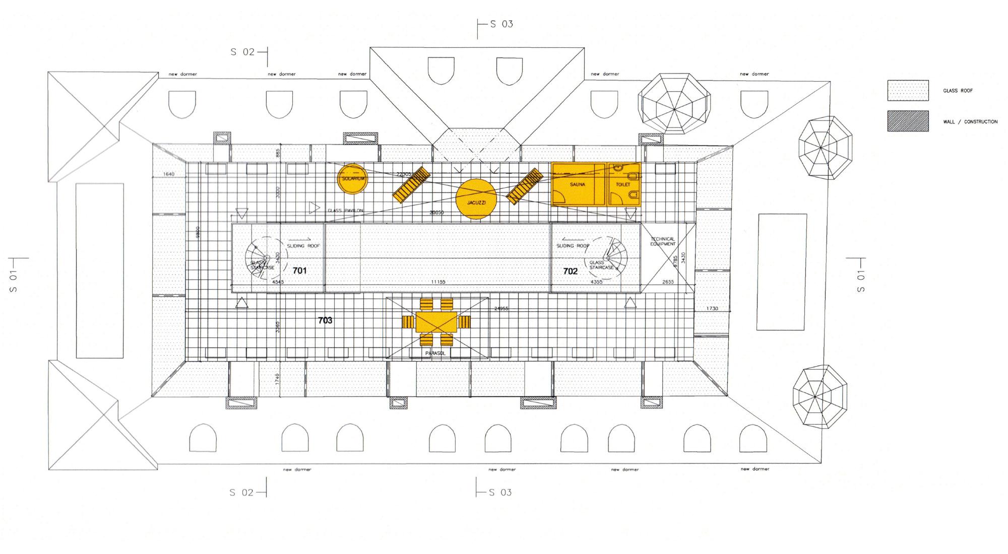 План терраса - 7 этаж