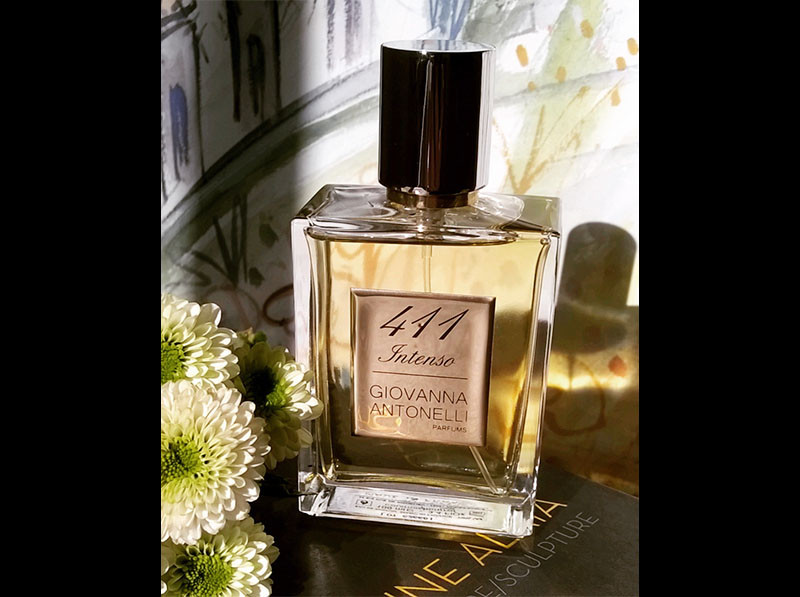 411 Intenso, Giovanna Antonelli parfums, Fragrance, Perfume, France, Niche perfumery