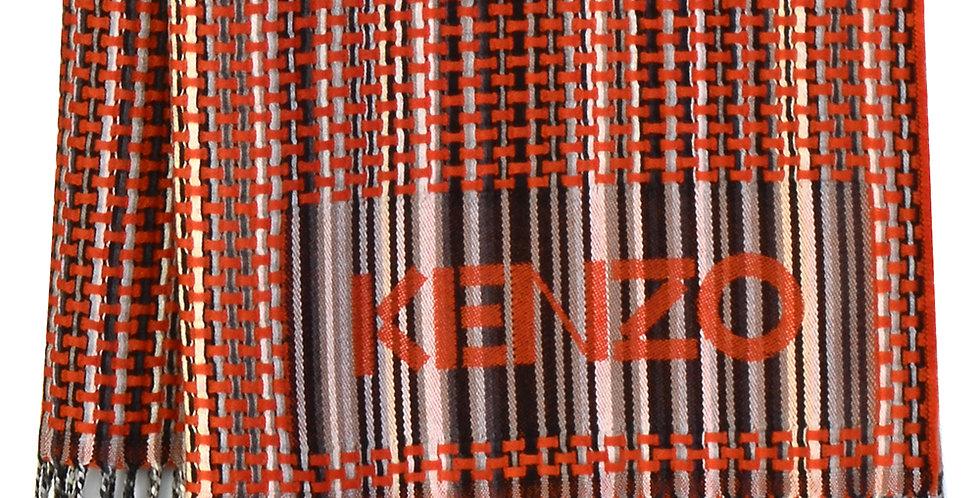 KENZO Maison Wool Plaid Orange