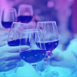 Get some laughs with a glass of good wine