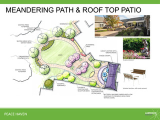 Meandering Path & Roof Top Patio