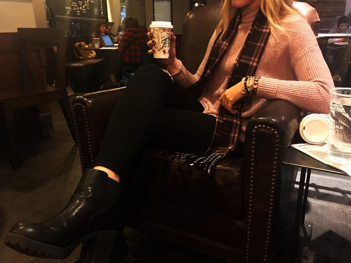 Sweaters and Starbucks!