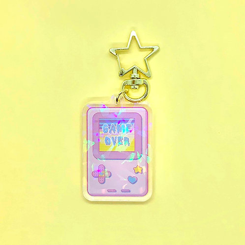 Kawaii Game Boy Inspired Pastel Keychain