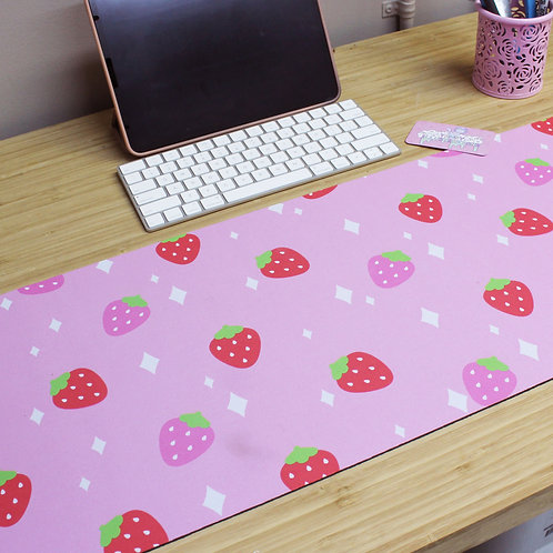 Large Kawaii Pastel Strawberry Milk Gamer Mousepad