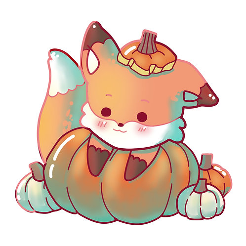 Kawaii Pumpkin Fox