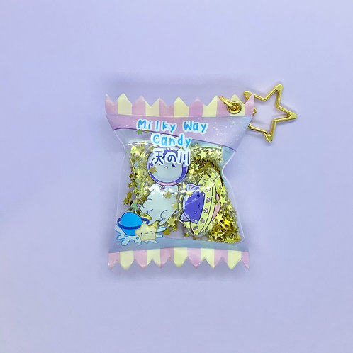 Milky Way Kawaii Cute Space Kitty Candy Acrylic Keychain Charm