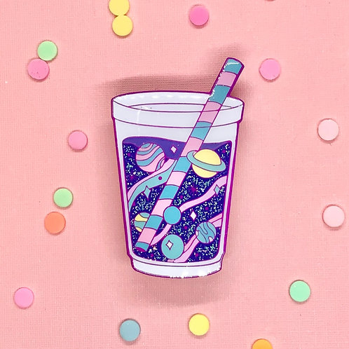 Cosmic Candy Milky Way Bubble Tea Enamel Pin