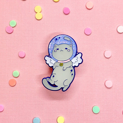 Kawaii Space Angel Astronaut Kitty Enamel Pin