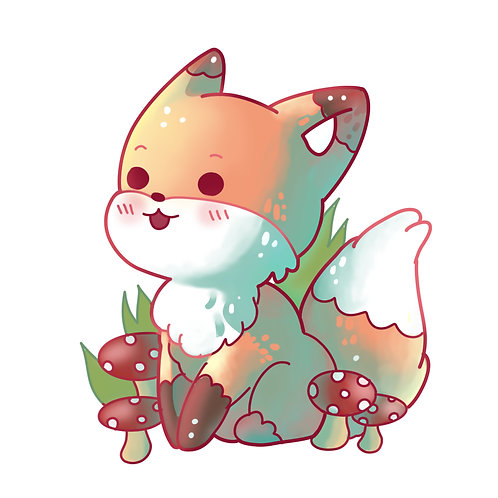 Kawaii Mushroom Fox