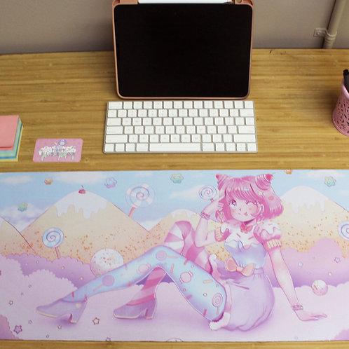 Large Kawaii Pastel Candy Land Anime Girl Sweet Gamer Mousepad