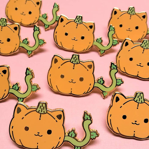 Halloween Pumpkitty Pumpkin Kitty Hard Enamel Pin