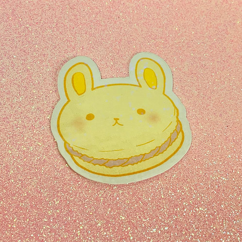 Kawaii Macaroon Macron Pastel Bunny Holographic Sticker