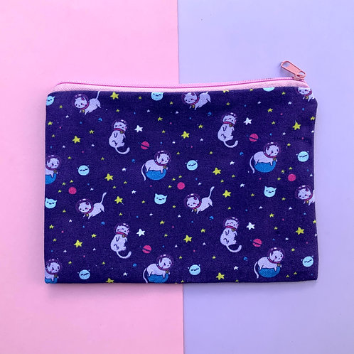 Kawaii Space Cat 7 x 5 Zipper Pouch