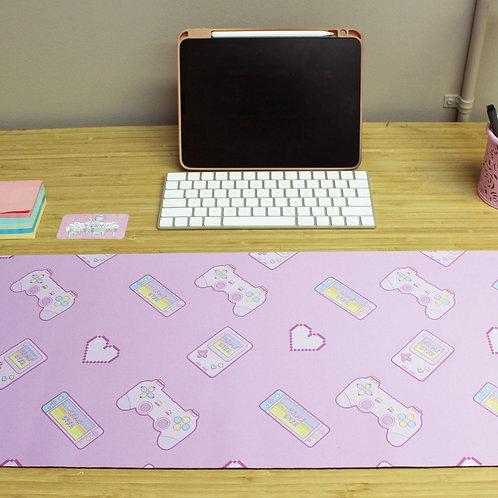Large Kawaii Pastel Retro Video Gamer Mousepad