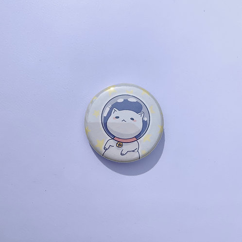 "Space Kitty Holographic 1.25"" Pinback Button"