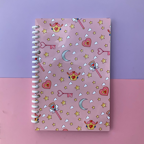Kawaii Magical Girl Sailor Moon Card Captor Inspired A5 Lined Notebook