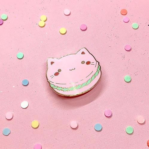 Kawaii Macaroon Macaoron Mint Kitty Enamel Pin