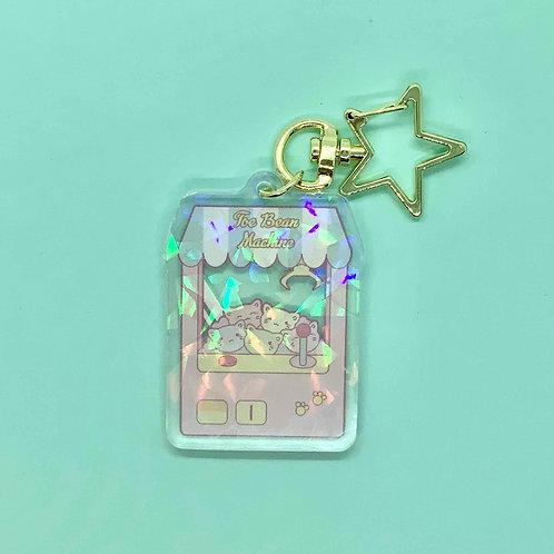 Kawaii Kitty Claw Crane Game Arcade Machine Keychain