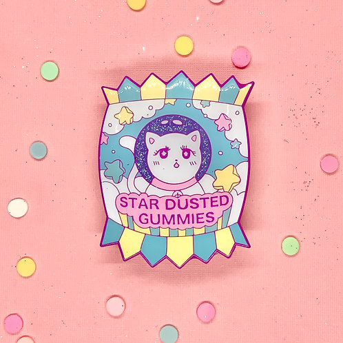 Cosmic Candy Star Dusted Gummies Enamel Pin