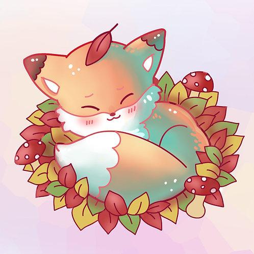 Kawaii Sleepy Fox