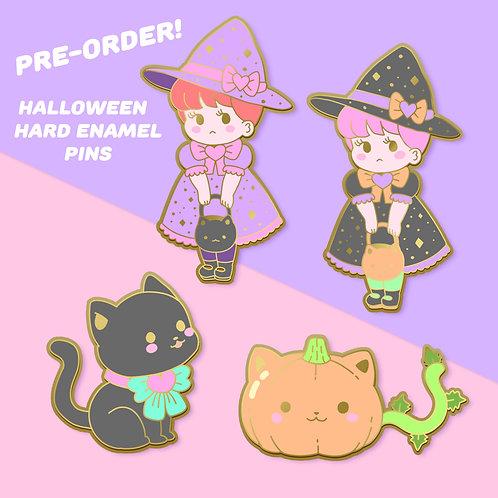 PRE-ORDER Halloween Hard Enamel Pin Set