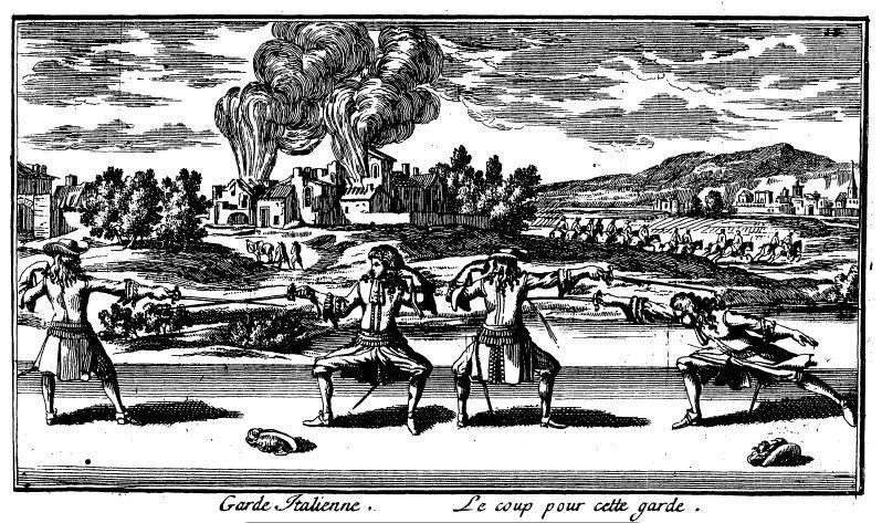Die italienische Auslage, Kupferstich.