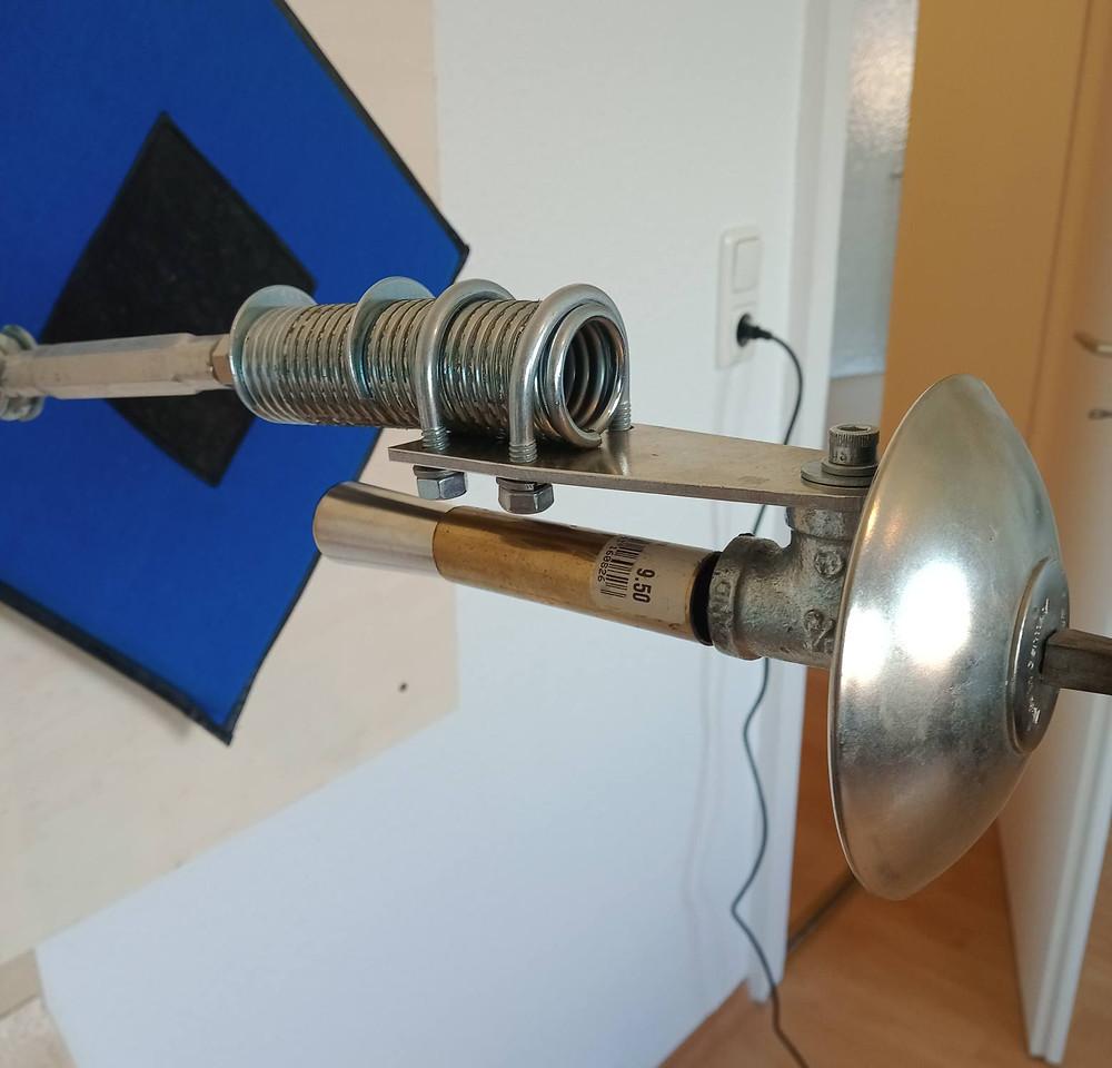 Detail-Aufnahme des mechanischen Fechtarms.