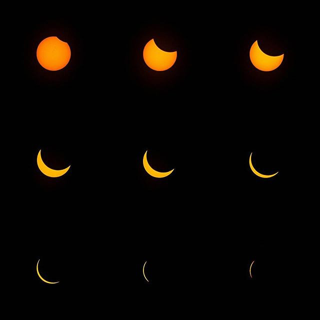 Stages of the 2017 Solar Eclipse