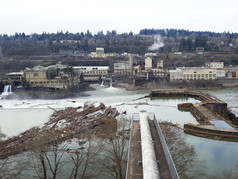 Logging at Willamette Falls