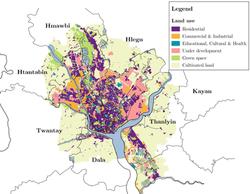 Land use in Yangon, Myanmar
