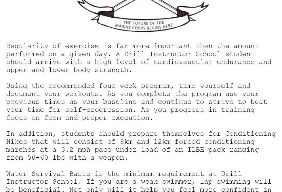 Drill Instructor 4 Week PT Program