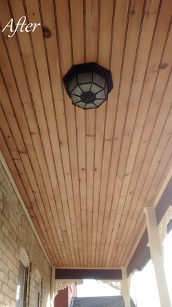 20. Porch Ceiling After