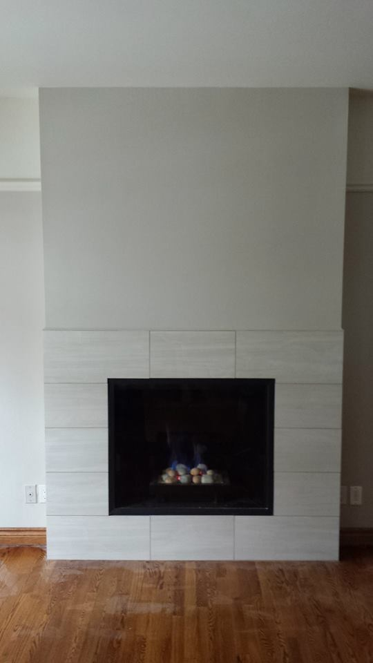 Finished fire place